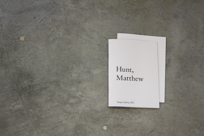 Matthew Hunt - Deep Clarity